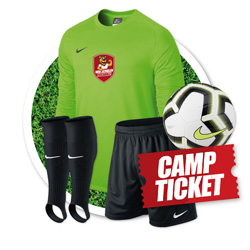 Paket 1: Trikot, Hose, Stutzen, Light Ball + Camp  175 EUR